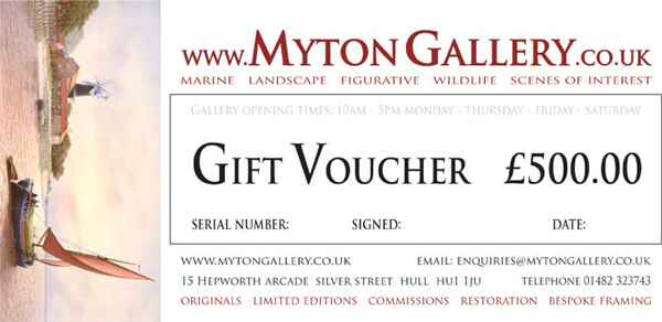 Art Gift Voucher at Myton Gallery, Hull £500
