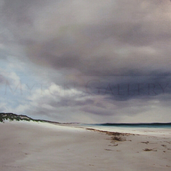 Outer Hebrides Seascape by Nicola Wakeling long walk long beach berneray
