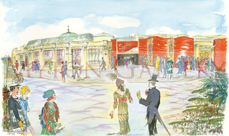 Bridlington Spa picture by artist Patricia Thompson