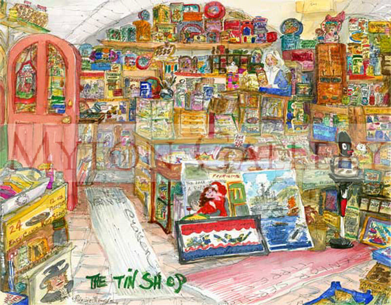 The Tin Shop picture by artist Patricia Thompson