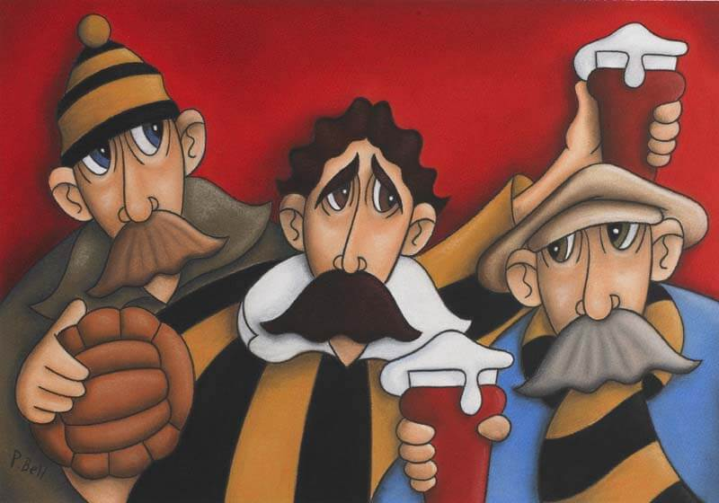 Hull City Football fine art print by artist Peter Bell