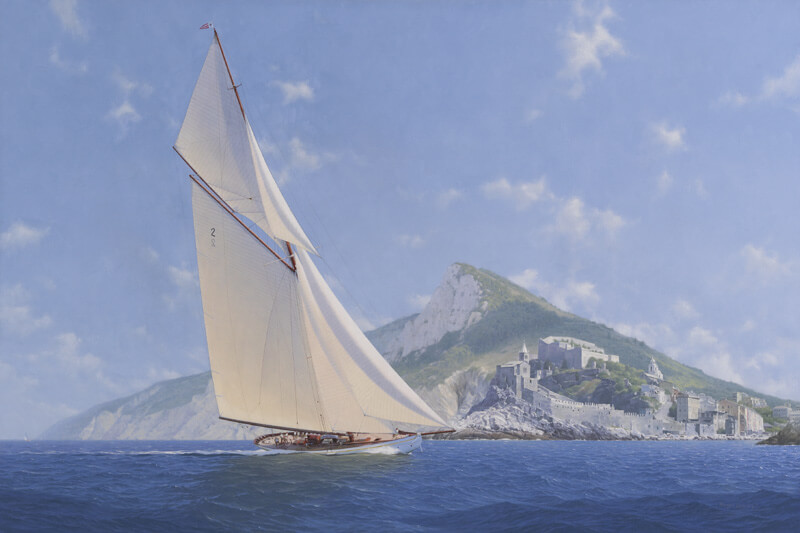 Lulworth J Class yacht fine art print by Roger Davies at Myton Gallery Hull