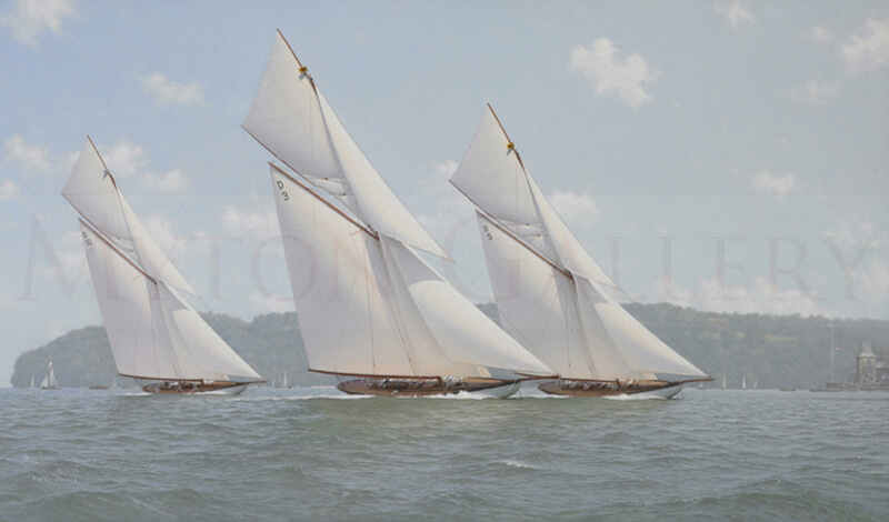 Tuiga, Hispania, The Lady Anne Classic Yachts original oil painting by marine artist Roger Davies