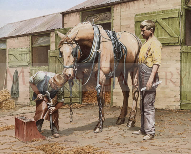 The Apprentice picture by equine artist Ron Spoors