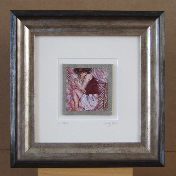 Sally Gatie Cradled original painting framed