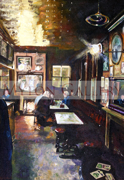 Nellies Main Bar, White Horse pub Beverley picture by artist Sarah Chadwick