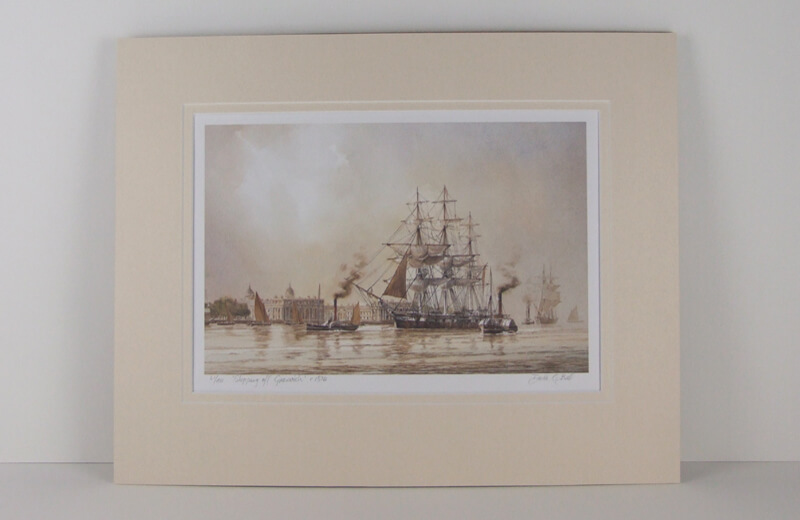 Tall ship Carrick picture by David Bell mounted for sale