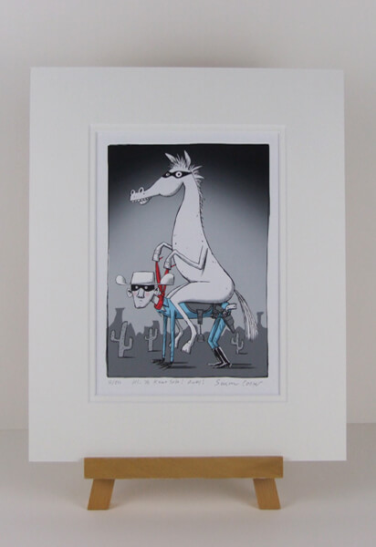 Simon Cooper Lone Ranger fine art print mounted for sale