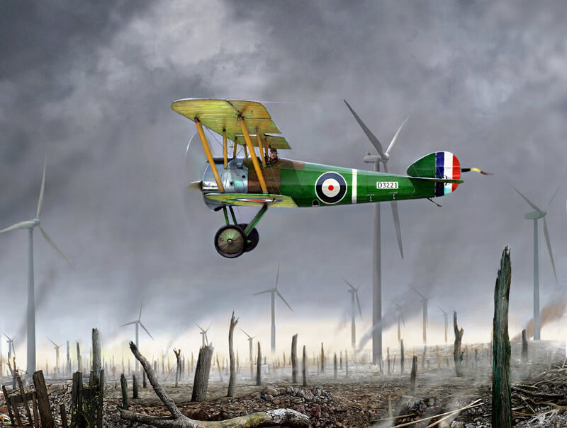 Sopwith Camel biplane aviation print by Gary Saunt