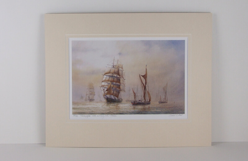 thermopylae tall ship david bell mounted for sale