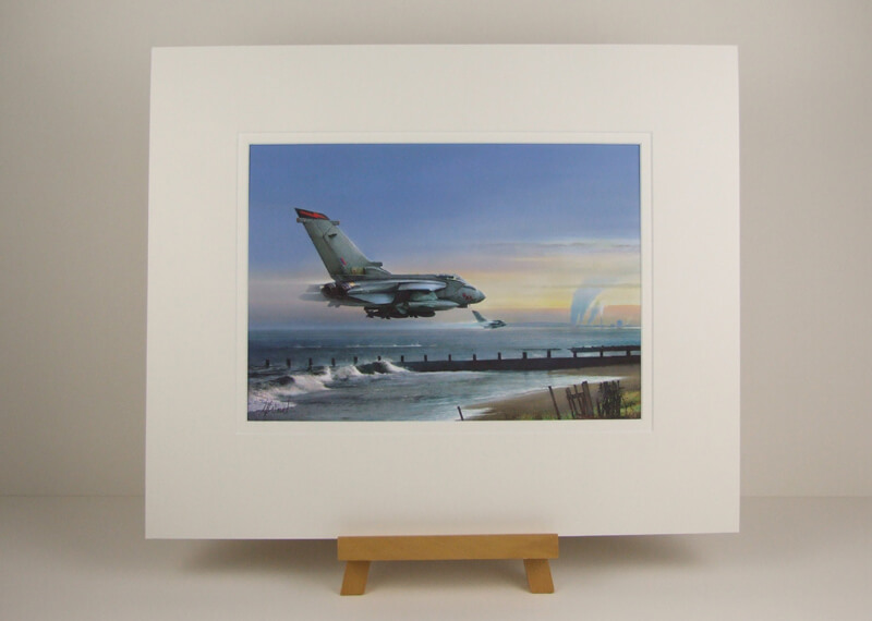 Tornado jet fighter aviation print by Gary Saunt mounted for sale