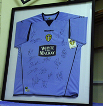 6952bde3dac Leeds Football Shirt Framed in Hull Leeds Football Shirt Framed in Hull ...