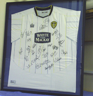 944d2ac42af Framed Leeds United Football Shirt Framed Leeds United Football Shirt ...